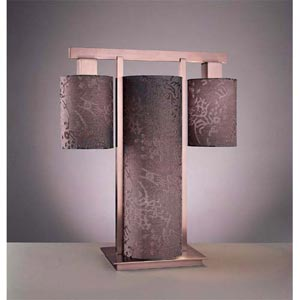 Kimono Table Lamp - Satin Nickel