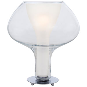 Soft Chrome One Light 18-Inch Table Lamp