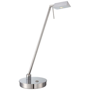 Chrome LED Table Lamp w/Steel Shade