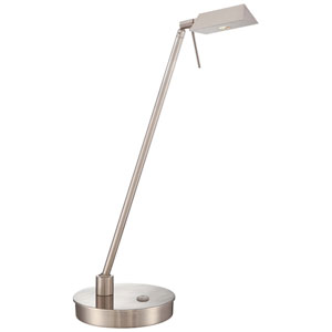 Brushed Nickel LED Table Lamp w/Steel Shade