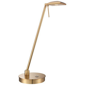 Honey Gold LED Table Lamp w/Steel Shade