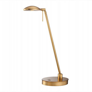 Honey Gold 19.5-Inch One Light LED Desk Lamp