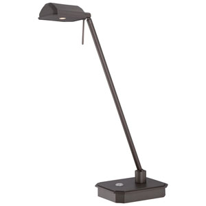 Copper Bronze Patina 15-Inch One-Light LED Task Lamp