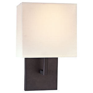 Bronze One-Light Wall Mount Rectangular Wall Sconce