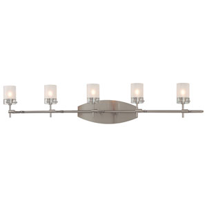 Brushed Nickel Five-Light Bath Fixture