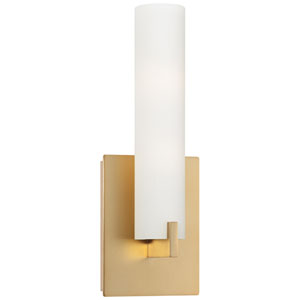 Tube Honey Gold Two-Light Wall Sconce