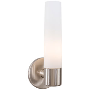 Brushed Nickel One-Light Bath Fixture