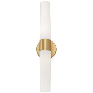 Saber Honey Gold Two-Light Bath Fixture