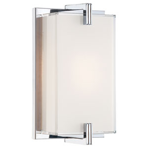 Cubism Chrome Wall Sconce