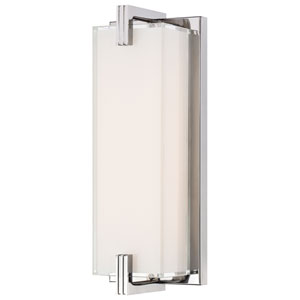 Cubism Chrome LED 12.75-Inch Bath Vanity Fixture