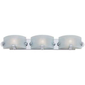 Pillow Chrome Three-Light Bath Fixture