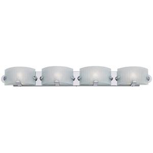 Pillow Chrome Four-Light Bath Fixture