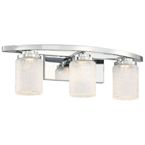 Brilliant Chrome Three-Light LED Vanity