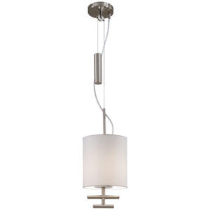 Counter Weights Satin Steel One-Light Pendant