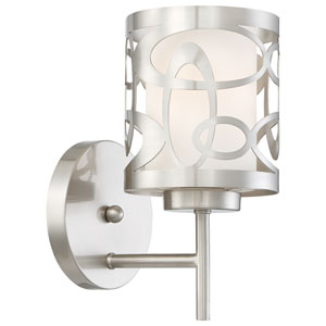 Links Brushed Nickel One-Light Wall Sconce