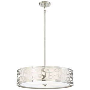 Links Brushed Nickel Four-Light Pendant