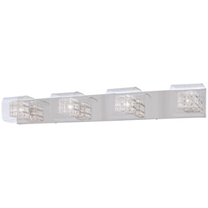 Jewel Box Chrome Four-Light Bath Fixture