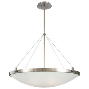 Brushed Nickel Bowl Pendant