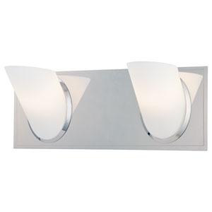 Angle Chrome Two-Light Bath Fixture