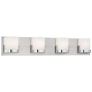 Convex Chrome Four-Light Bath Fixture