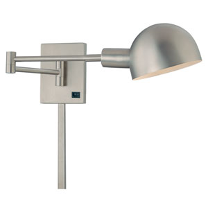 P3 Brushed Nickel Swing Arm Wall Lamp