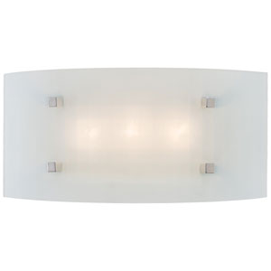 Pillow Chrome and Glass 3-Light Bath Sconce