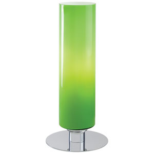Chrome Accent Lamp with Green Cased Glass