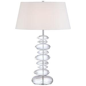 Chrome Table Lamp with Eidolon Krystal Glass