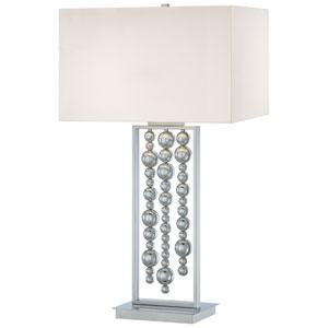 Chrome Two-Light Table Lamp