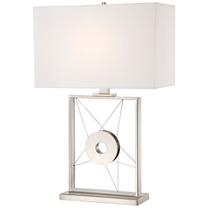 Portables Polished Nickel One-Light Table Lamp