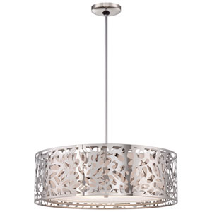 Chrome Four Light 23.5-Inch Diffused Pendant