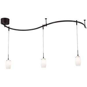 GK Lightrail Bronze Three-Light Pendant Monorail Kit