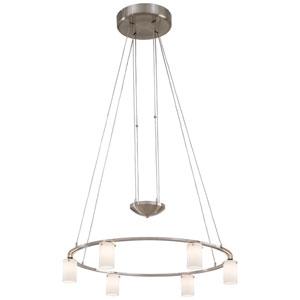 Adjustable Six-Light Chandelier - Round
