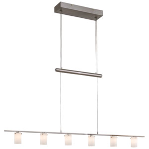 Counter Weights Brushed Nickel Island Pendant