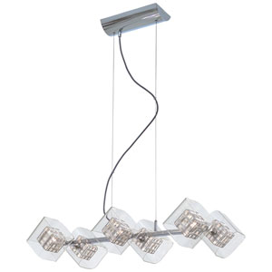 Jewel Box Chrome Six-Light Island Light