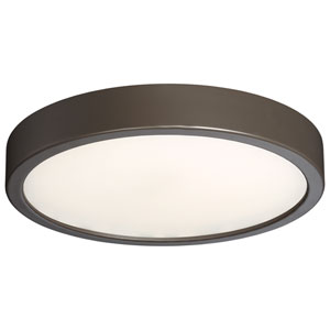 Painted Copper Bronze Patina LED 10-Inch Flush Mount