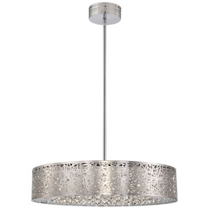 Chrome LED 24-Inch Pendant