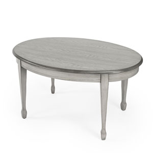 Clayton Gray Oval Coffee Table