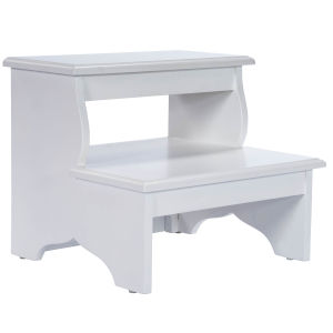 Melrose Cottage White Step Stool