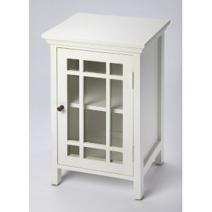 Baxter Glossy White Chairside Chest