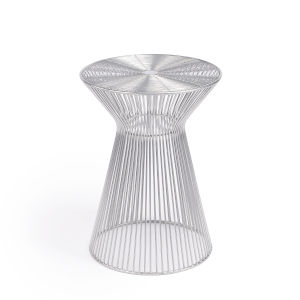 Industrial Chic Greeley Silver End Table
