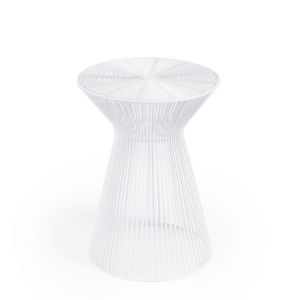 Industrial Chic Greeley White End Table