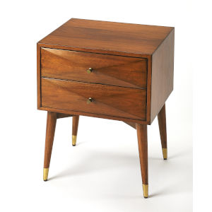 Brown 25-Inch Nightstand
