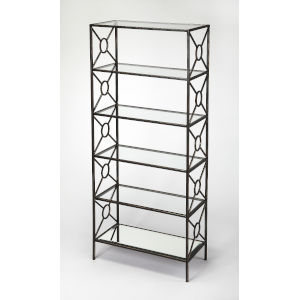 Black 70-Inch Shelves and Bookcases Free Standing