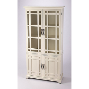 Masterpiece Revival White Tall Cabinet