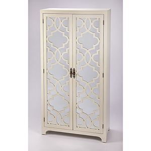 Masterpiece Morjanna White Tall Cabinet
