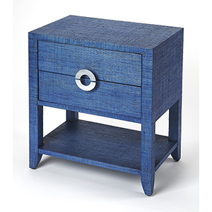 Butler Loft Navy Raffia Amelle End Table