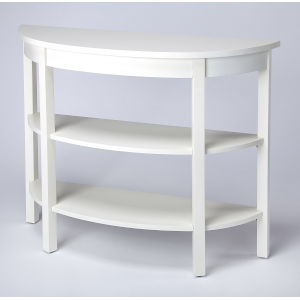 White 33-Inch Console Table