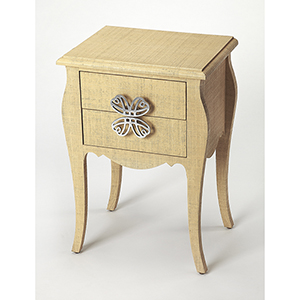 Butler Loft Felicia Cream Raffia End Table