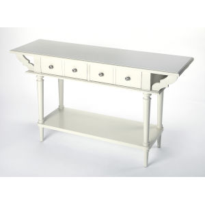 White 32-Inch Console and Sofa Table